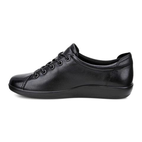 Ecco women's Soft 2.0 tie lace-up shoes 206503-56723 black with black sole SIZE 39