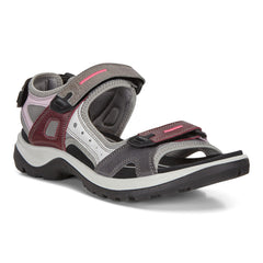 Ecco women's Yucatan Multicolor Offroad Sandals 822083-51826 multicolor wine