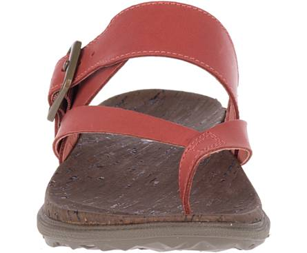 Merrell women's Around Town Luxe Buckle Thong J97402 redwood
