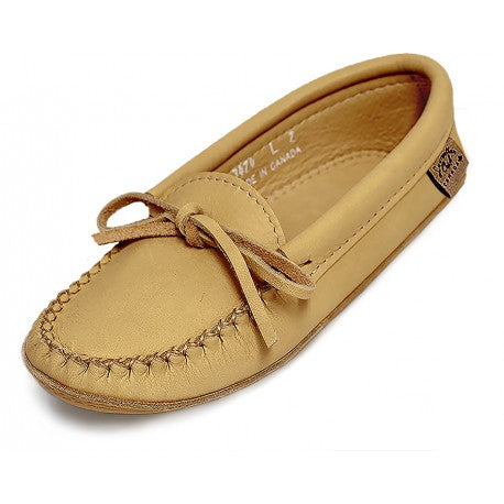 Laurentian Chief men's Moccasins, double leather/padded sole 5000-0500-41NAM 3474M NA natural moose hide