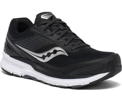 Saucony men's Echelon 8 Regular, Wide, and Extra Wide (S20574-40, S20575-40, S20576-40) black/white
