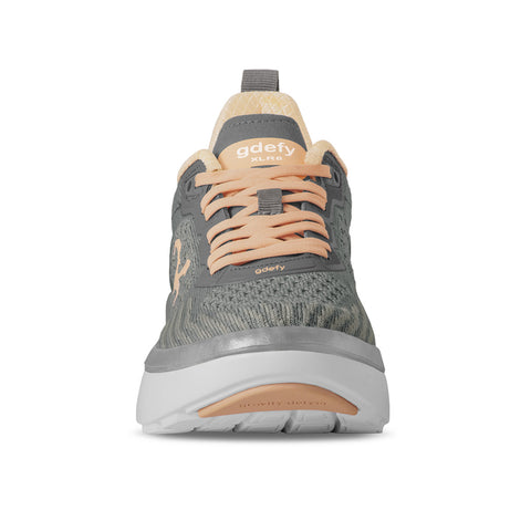 Gravity Defyer gdefy women's XLR8 Running Shoes TB9034FGP MED WIDE gray peach