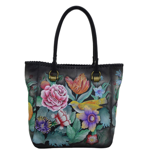 Anuschka Tall Tote With Double Handle 609-VBQ Vintage Bouquet
