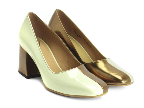 John Fluevog women's Tasty Vogues Lucienne two-toned pump