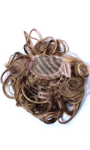 Hair Couture Clip & Go Hand Tied Top Piece - Ht Tp 001