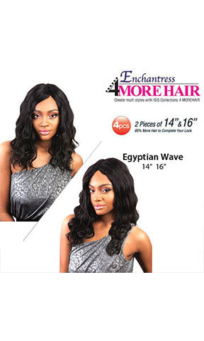 Isis Enchantress Human Hair Premium Blend Weaving Egyptian Wave 4 Pieces