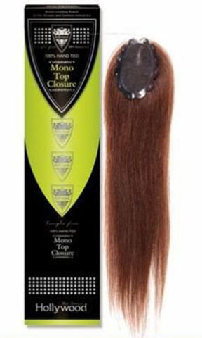 Hollywood Hand Tied Mono Top Human Hair Closure Straight