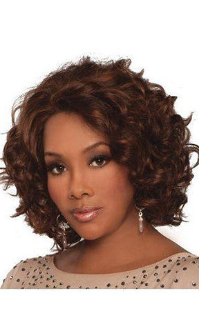 Vivica Fox Deep Lace Front Invisible Part Human Hair Wig Chante