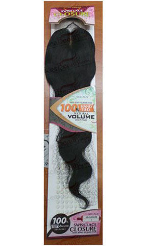 Swiss Lace Closure Human Indian Remy Hair