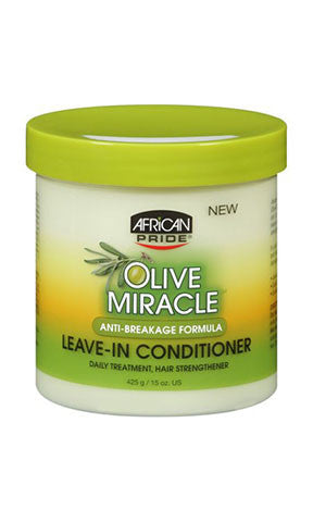 African Pride Olive Miracle Anti-Breakage Formula Leave-In Conditioner (15 oz.)