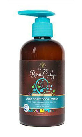 As I am Born Curly Aloe Shampoo & Wash (8 fl oz.)