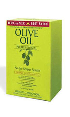 Organic Root Stimulator Olive Oil No-lye Relaxer System (two Application)