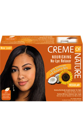 Creme of Nature Professional Oil Infusion Moisturizing No-Lye Relaxer System (2 Applications)
