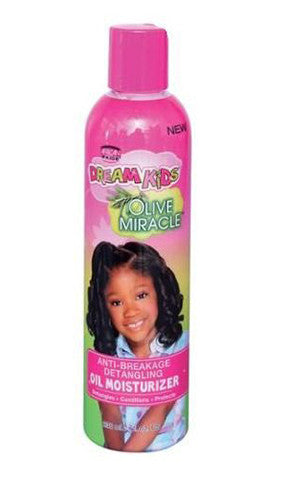 African Pride Dream Kids Olive Miracle Anti-Breakage Detangling Oil Moisturizer (8 fl oz.)