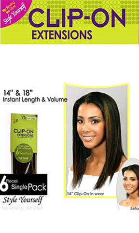 Bobbi Boss Clip On Extensions 6 Pieces Single Pack