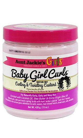 Aunt Jackies Baby Girl Curls Curling and Twisting Custard