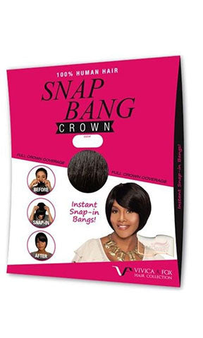 Vivica Fox Human Hair Snap Bang Crown