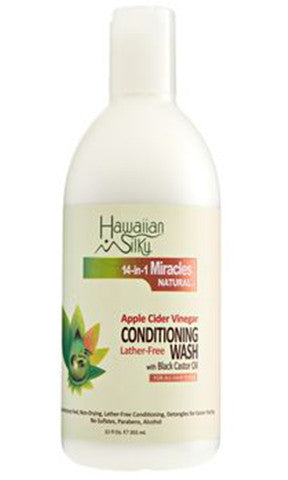 Hawaiian Silky Apple Cider Vinegar Conditioning Wash with Black Castor Oil (12 fl oz.)
