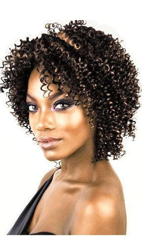Isis Collection Human Hair Weaving Badu Jerry Curl Short 3 Pieces