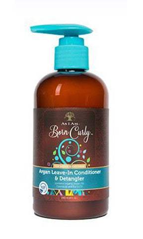 As I am Born Curly Argan Leave-In Conditioner & Detangler (8 fl oz.)