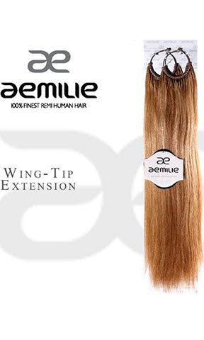 Aemilie Human Hair Ring-tip Wing Extension 24 inches