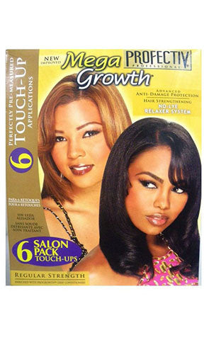 PROFECTIV MEGA GROWTH NO LYE RELAXER SYSTEM SALON PACK 6 TOUCH UPS