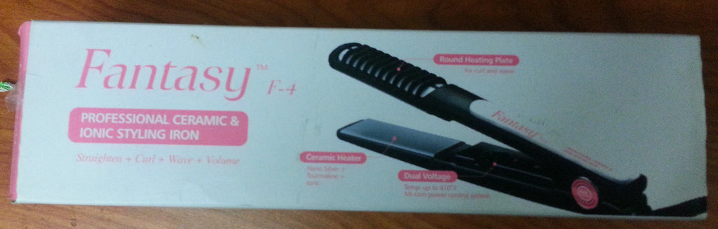Fantasy Nano Silver Technology Dual Voltage Tourmaline + Ionic + Ceramic 1 Inch Flat Iron