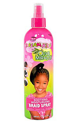 African Pride Dream Kids Olive Miracle Braid Soothing Moisturizing Braid Spray (12 fl oz.)