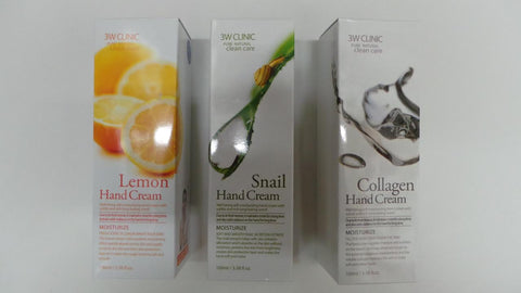 3W Clinic Pure Natural Clean Care Lemon Hand Cream (3.38 fl. oz.)