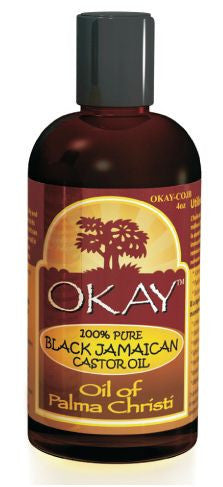 Okay 100% Pure Black Jamaican Castor Oil 4oz.