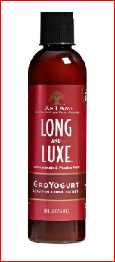 As I Am Long and Luxe GroYogurt Leave-In Conditioner (Pomegranate & Passion Fruit) 8 oz.