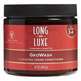 As I Am Long And Luxe Pomegranate & Passion Fruit 16oz, GroWash Cleansing Creme Conditioner