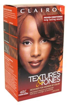 Clairol Professional Textures and Tones Permanent Hair Color Dye, 4RC Cherry Wood