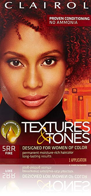 Clairol Professional Textures and Tones Permanent Hair Color Dye, 5RR Fire