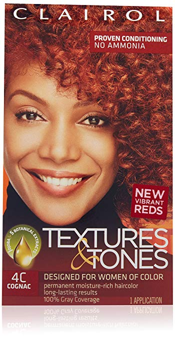 Clairol Professional Textures and Tones Permanent Hair Color Dye, 4C Cognac