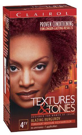Clairol Professional Textures and Tones Permanent Hair Color Dye, 4RV Blazing Burgundy