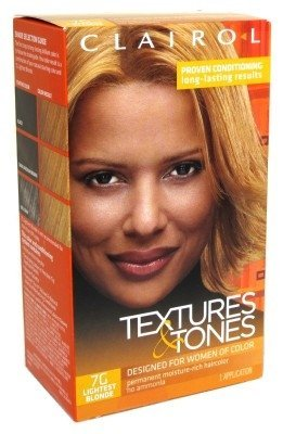 Clairol Professional Textures and Tones Permanent Hair Color Dye, 7G Lightest Blonde