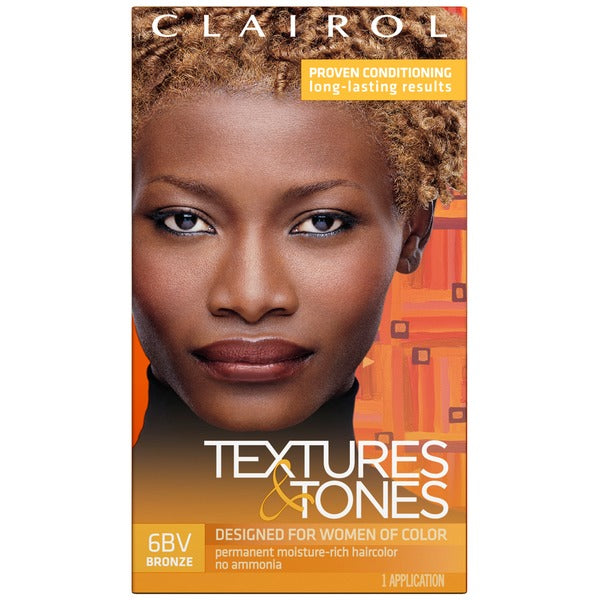 Clairol Professional Textures and Tones Permanent Hair Color Dye, 6bv Bronze