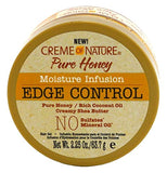Creme Of Nature Pure Honey Edge Control Gel 2.25 Ounce Jar (66ml)