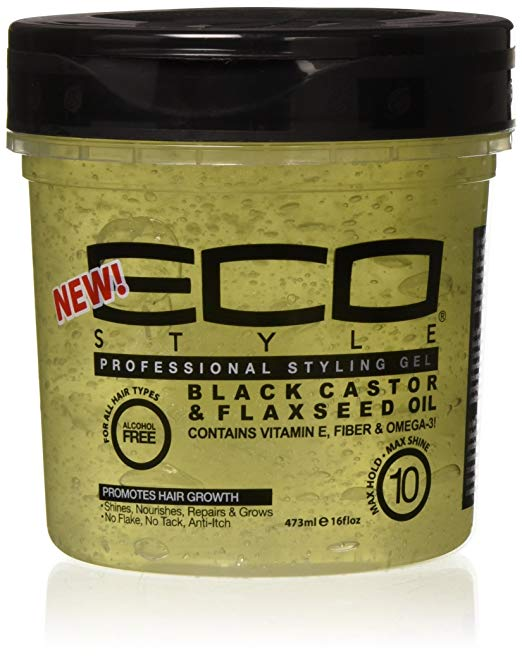 Eco Style Black Castor & Flaxseed Oil Gel