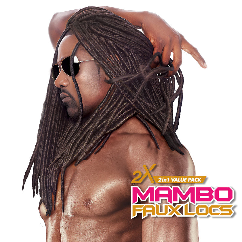 "Janet Collection 2x Havana Mambo Faux Locs 18"" for Men"