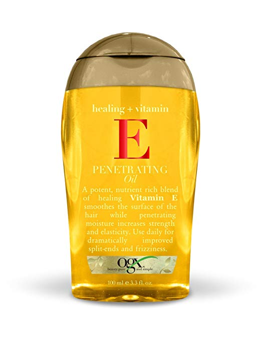 OGX Healing + Vitamin E Penetrating Oil, 3.3 Ounce Bottle Sulfate-Free Surfactants Moisturizing Hair Oil