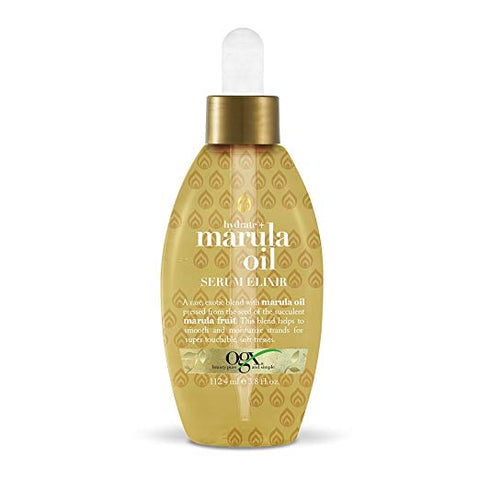 OGX Hydrate + Marula Oil Serum Elixir with Dropper, 3.8 Ounce Bottle