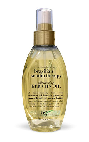 OGX Shimmering Keratin Oil, Ever Straight Brazilian Keratin Therapy, 4oz