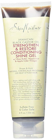 Shea Moisture Jamaican Black Castor Oil Strengthen & Grow Conditioning Shine Gel for Unisex, 8 Ounce