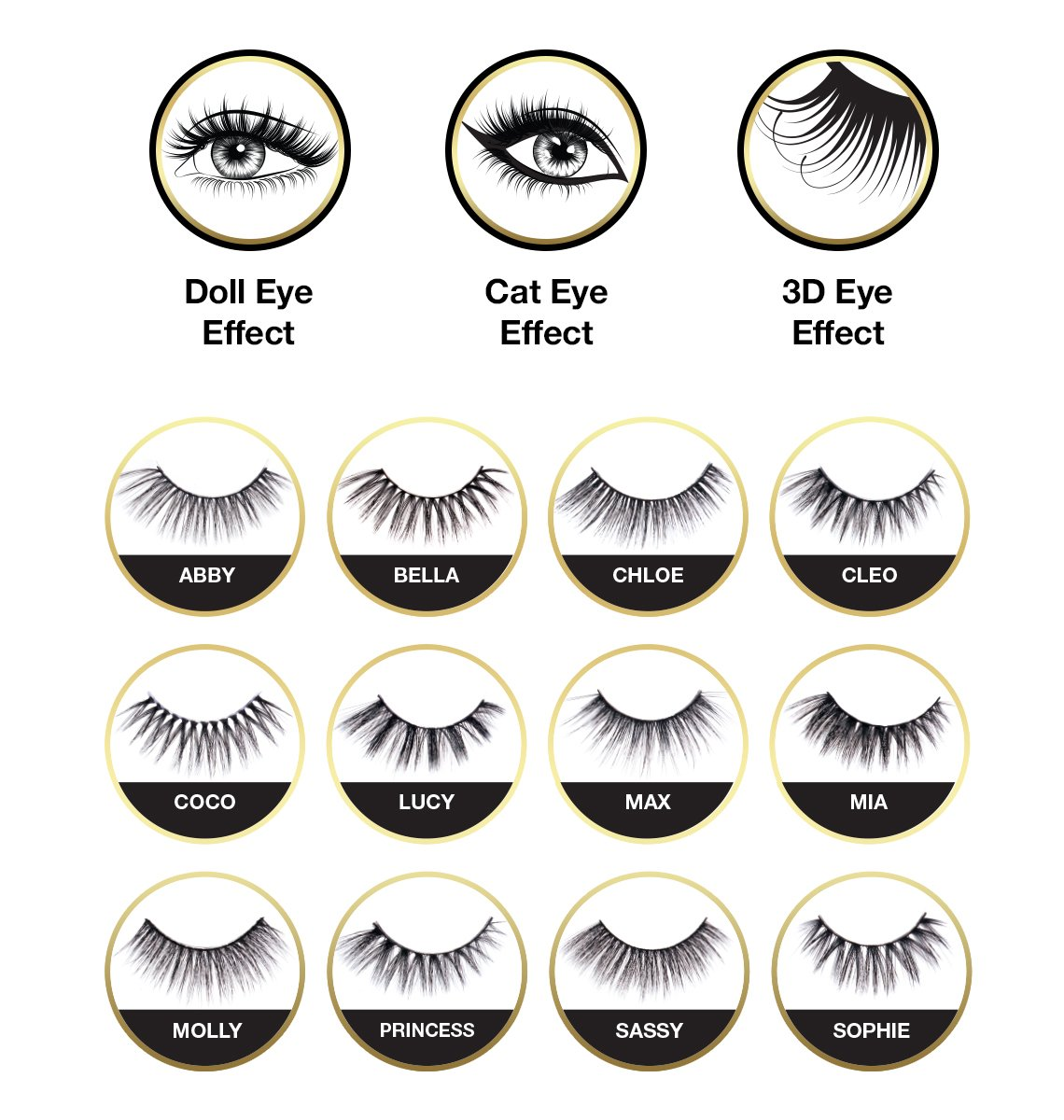 EBIN NEW YORK WILD CAT LASHES - MOLLY (WC004)
