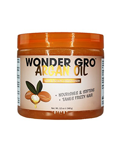 Wonder Gro Argan Oil Hair & Scalp Styling Conditioner, 12 fl oz - Frizz-Free Grease - Nourishes & Softens