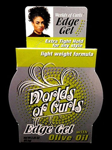 Worlds of Curls Edge Gel With Olive Oil