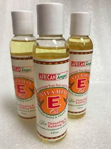 African Angel Vitamin E Hair Oil Size: 4oz