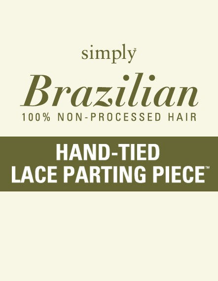 "Simply Brazilian Hand-Tied Lace Parting Top Piece 16"" Natural Curl"